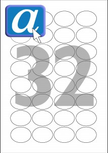 32 Labels Per A4 Sheet (40x30mm) OVAL32-CPerm